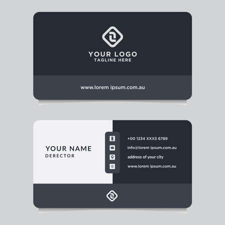 Illustration for Abstract business card template. Modern vector design - Royalty Free Image