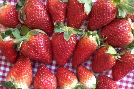 groupe of fresh and ripe strawberries