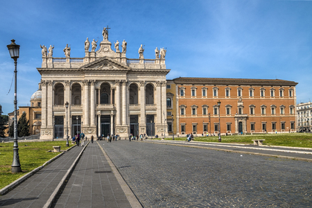 The square and Basilica of San Giovanni in Laterano in Rome