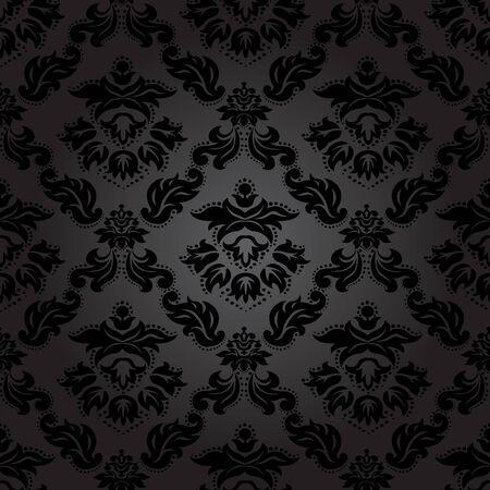 Ilustración de Seamless pattern background. Damask wallpaper. Vector illustration - Imagen libre de derechos