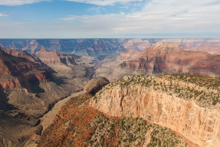 Aerial view of Grand Canyon National Park in Arizona, USA