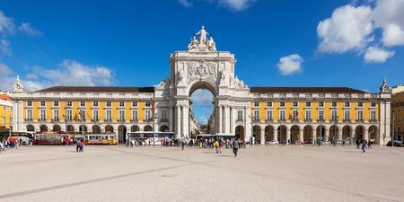 Commerce square - Praca do commercio in Lisbon - Portugal