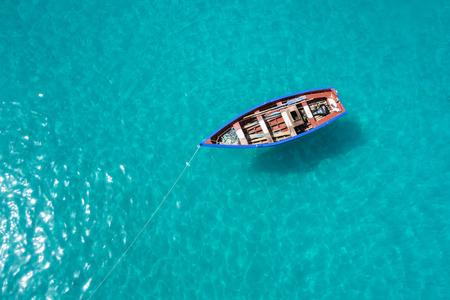 Traditional fisher boat in Santa Maria  in Sal Island in Cape Verde - Cabo Verde