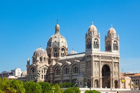 Cathedral Sainte-Marie-Majeure de Marseille or Notre dame de la major near the vieux port in Marseille, France
