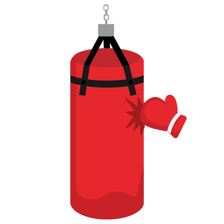Punching bag with gloves