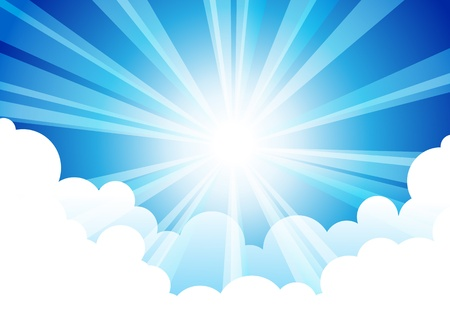 Illustration pour Sky Sun Cloud - image libre de droit