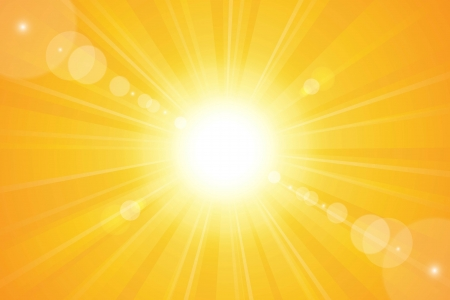 Illustration pour Bright sunny days sunset sky orange background for illustrations  - image libre de droit