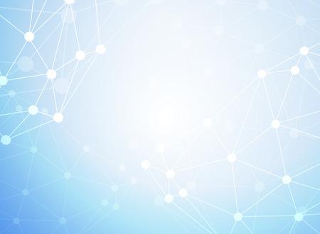 Photo pour Abstract molecules medical background - image libre de droit