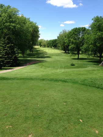 Perfect day at the golf course.