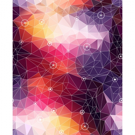 Vektor für Seamless abstract triangle colorful pattern background with circles and dots - Lizenzfreies Bild