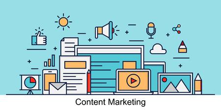 Vektor für Content Marketing Vector - Lizenzfreies Bild