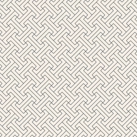 Illustration pour Vector seamless pattern. Modern stylish abstract texture. Repeating geometric tiles from striped elements - image libre de droit