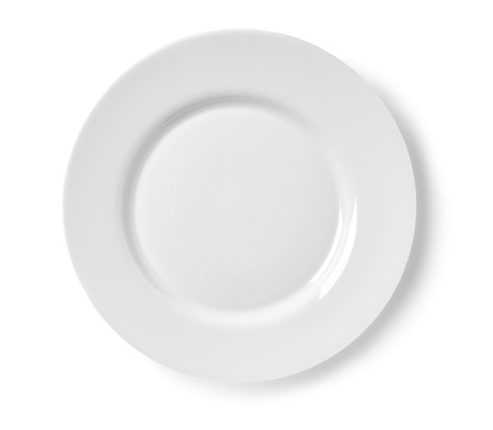 Plate on white background isolated