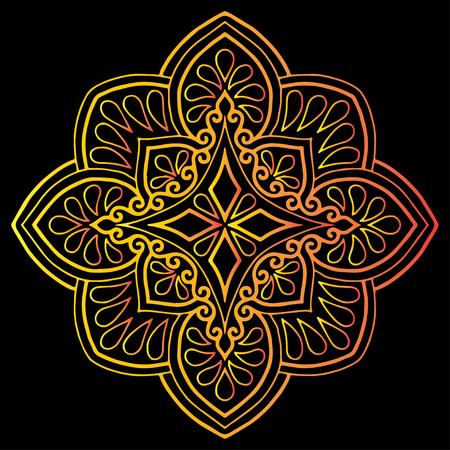 Illustration pour Cross doodle sketch color religion - image libre de droit
