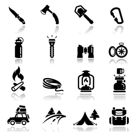 Icons set camping
