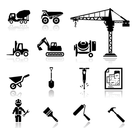 Photo for Icons set construction - Royalty Free Image