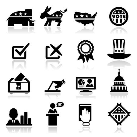 Icons set Election