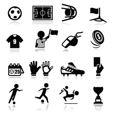 Ilustración de Icons set Soccer - Imagen libre de derechos
