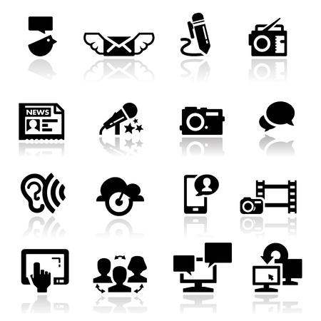 Photo for  Icons set communication - Royalty Free Image