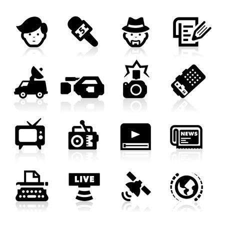 Reporter Icons set - Elegant series