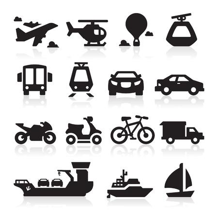 Foto de Transportation icons - Imagen libre de derechos