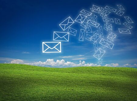 Photo for art work for mail communication on nature back ground - Royalty Free Image