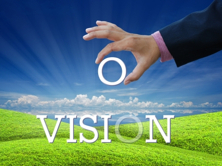 An attractive artwork for vision on nature background.