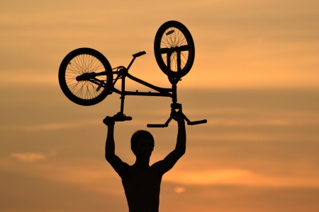 BMX Rider Sunset