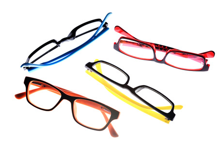 Eye glasses frames on white background.