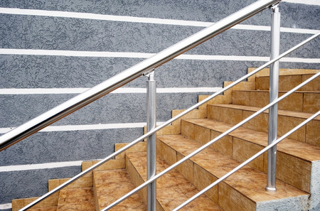 Photo for Flight Of Stair Steps Outside A Building - Royalty Free Image