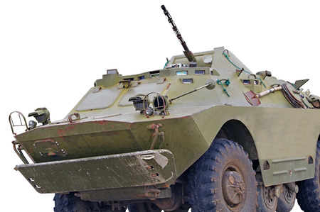 the Russian BRDM on white background