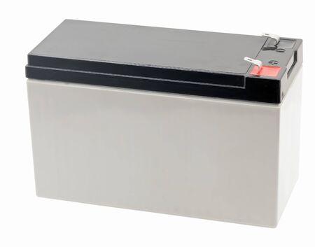 Photo pour 12 Volts battery isolated on white background - image libre de droit