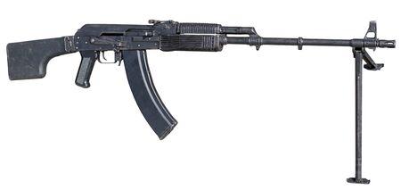 Photo pour Machine gun on white background - image libre de droit