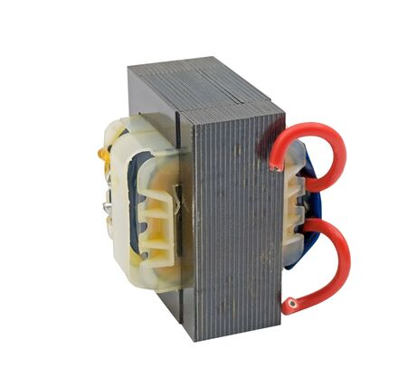 Photo for small Electrical transformer on white background - Royalty Free Image