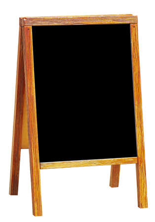 Photo pour sandwich board with chalkboard area blank for insertion of your message - image libre de droit