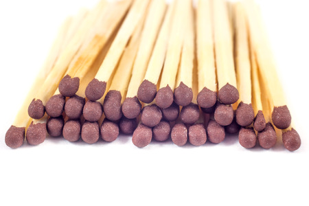 Groupe of match sticks isolated on white background.