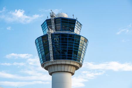 Photo pour Air Traffic Control Tower of Athens International Airport, Greece - image libre de droit