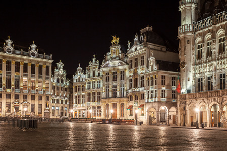 Foto für Grand Place buildings from Brussels at night, Belgium. Travel. - Lizenzfreies Bild