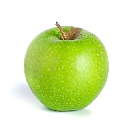 Foto de Green apple isolated on white background. Healthy food, fruit - Imagen libre de derechos
