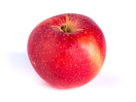Photo for Fresh red apple isolated on white background, healthy food - Royalty Free Image