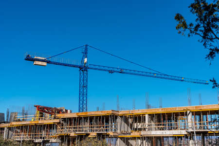 Photo for Building that is being built, concrete and sticking fittings. Architecture - Royalty Free Image