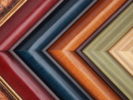 Photo pour Picture frame samples - image libre de droit