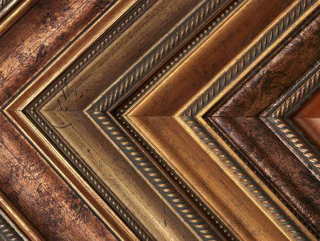 Photo pour Picture frame samples gold and bronze - image libre de droit