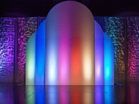 colorful illuminated stage background