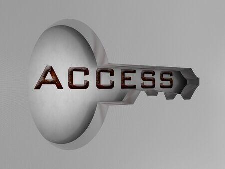 Access key. 3D image