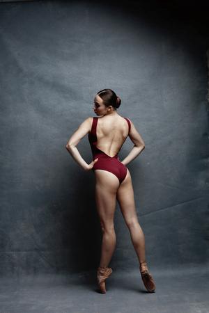 Foto für Young beautiful ballerina is posing in studio - Lizenzfreies Bild