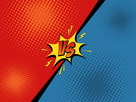 Illustration for Comic book versus background. Vector illustration pop art style - Royalty Free Image