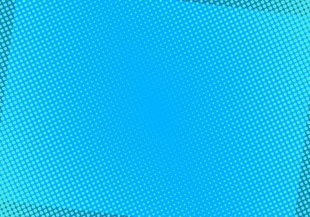 Ilustración de Blue comic background with halftone dots. Pop art vector illustration. - Imagen libre de derechos