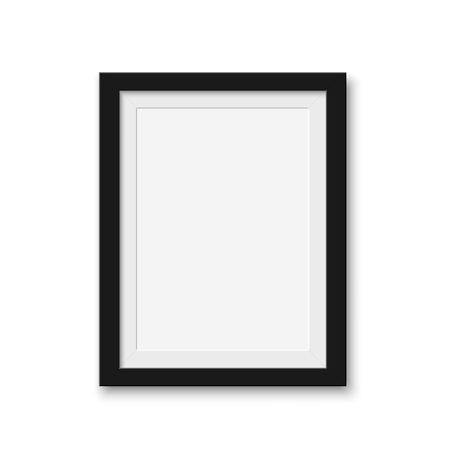 Illustration pour Mock up blank picture frame for photographs. Isolated vector illustration on white background. - image libre de droit