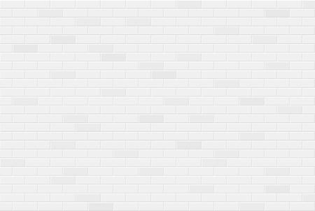 Illustration for White brick wall texture seamless geometric pattern of bricks - Royalty Free Image
